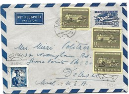 23 - 31 - Aérogramme Envoyé De Stiefern Aux USA 1957 - 1945-.... 2nd Republic