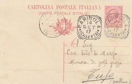 Carinola. 1917. Annullo Tondo Riquadrato CARINOLA (CASERTA),  Su Cartolina Postale - Storia Postale
