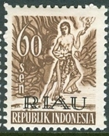 INDONESIA INDONESIË RIAU 1954  ZBL 12 OVERPRINTED MNH ** POSTFRIS NEUF - Indonesia