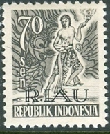 INDONESIA INDONESIË RIAU 1954  ZBL 13 OVERPRINTED MNH ** POSTFRIS NEUF - Indonesia