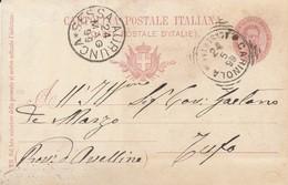 Carinola. 1899. Annullo Tondo Riquadrato CARINOLA (CASERTA),  Su Cartolina Postale - 1878-00 Umberto I