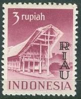 INDONESIA INDONESIË RIAU 1954  ZBL 19 OVERPRINTED MNH ** POSTFRIS NEUF - Indonesia