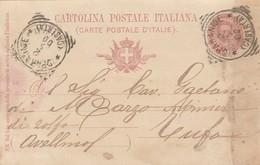 Sparanise. 1900. Annullo Tondo Riquadrato SPARANISE (CASERTA),  Su Cartolina Postale - 1878-00 Umberto I