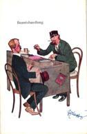 """Beamter Am Schreibtisch """"Beamtshandlung"""", Sign. Schönpflug - Schoenpflug, Fritz"""