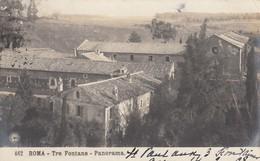 ROMA-TRE FONTANE-PANORAMA-CARTOLINA VERA FOTOGRAFIA VIAGGIATA IL 14-3-1908-EDIZIONI NPG - Altri