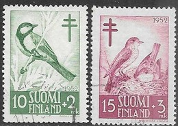 Finland   1952   Sc#B117-8  Birds Used  2016 Scott Value $6.50 - Used Stamps