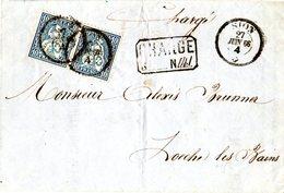 Schweiz 1866, Paar 10 C. Auf Einschreiben Brief V. SION - Unclassified