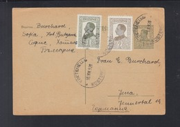 Bulgaria Stationery Uprated 1928 To Germany - 1909-45 Königreich