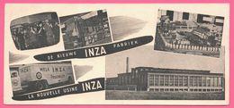 BUVARD Illustré - BLOTTING PAPER - Schoten Nouvelle Usine INZA Fabriek - Camion - Melk - Lait Laiterie Saint St Ghislain - Buvards, Protège-cahiers Illustrés
