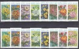 Vietnam Nord 1974 - Chrysanthemums, Mi-Nr. 763/70, Perf.+imperf., MNH** - Vietnam