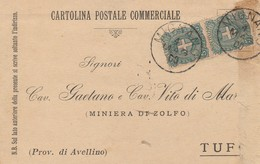 Mignano. 1900. Annullo Grande Cerchio MIGNANO, Su Cartolina Postale - 1878-00 Umberto I