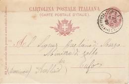 Tora E Piccilli. 1899. Annullo Gande Cerchio TORA E PICCILLI (CASERTA), Su Cartolina Postale - 1878-00 Umberto I