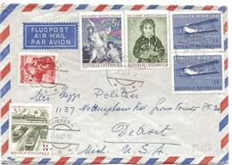 243 - 50 - Enveloppe Envoyée De Stiefern Aux USA 1961 Bel Affranchissement - 1945-.... 2ème République