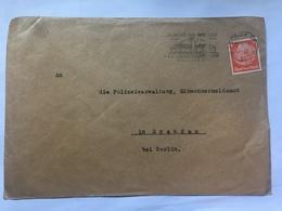 GERMANY 1934 Cover Berlin - `Die Polizeiverwaltung Einwohnermeldeamt` - `Besucht Die Deutsche Siedlungsausstellung` Stem - Alemania