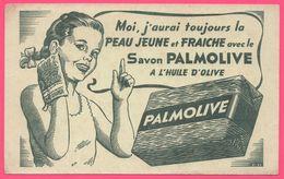 BUVARD Illustré - BLOTTING PAPER - Savon PALMOLIVE à L'huile D'olive - Jeune Fille - Fillette - Parfums & Beauté