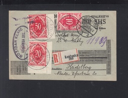 Yugoslavia Croatia Stationery Koncanica To Heidelberg - Kroatien