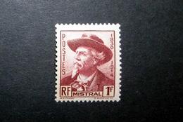 FRANCE 1941 N°495 ** (MISTRAL. 1F BRUN CARMINÉ) - France