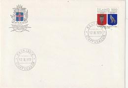 Ísland. Fyrsti Dagur útvarpsþáttur. 1979. Skjaldarmerkid. 1904-1919. - 1944-... Repubblica