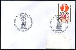 ITALIA TORINO 2015 - TORINO 2015 CAPITALE EUROPEA DELLO SPORT - SETTIMANA EUROPEA DELLO SPORT - Francobolli