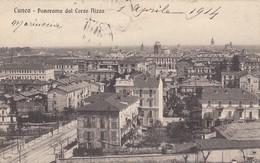 CUNEO-PANORAMA DAL CORSO NIZZA-CARTOLINA VIAGGIATA IL 1-4-1914 - Cuneo