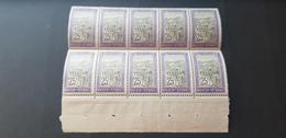 Madagascar Yvert 134** Bloc De 10 - Unused Stamps