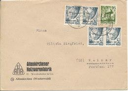 Germany Allied Occupation French Zone Rheinland Pfalz Cover Altenkirchen 13-5-1948 (Holzwarenfabrik) - Zone Française