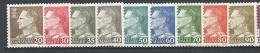 Danemark 1961 Série 398/406  Neufs** MNH Roi Frederik IX - Danimarca