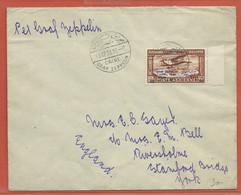EGYPTE LETTRE ZEPPELIN DE 1931 DU CAIRE POUR STANFORD BRIDGE ANGLETERRE - Egypt