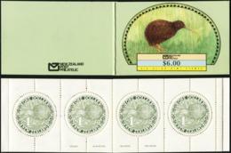 NEW ZEALAND 1988 Round Kiwi Definitives Birds Animals Fauna Complete Booklet Carnet Folded MNH - Kiwi