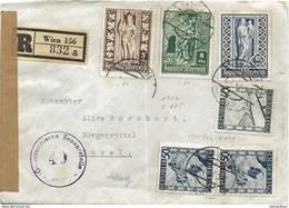 150 - 28 - Enveloppe Recommandée Envoyée De Vienne  En Suisse 1947 - Censure - 1945-.... 2nd Republic