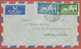 LIBYE LETTRE DE 1952 DE BENGHAZI POUR AMSTERDAM PAYS BAS - Libye