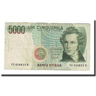 Billet, Italie, 5000 Lire, 1985, 1985-01-04, KM:111b, TTB - [ 2] 1946-… : Repubblica