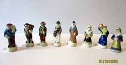 Fèves Brillantes Anciennes - Villageois X 8 - Antiguos