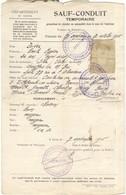 Sauf Conduit Temporaire Septembre 1916 - Autorisation De Circuler En Automobile Pour Un Chauffeur De Maître - Vecchi Documenti