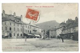 MENDE (Lozère) Place De L'Hôtel De Ville - Animé - Ed. A. Planchon - 1911 - Mende