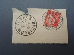 Oblitération VANNES 1933 Timbre Paix 50 C N° 283 - Non Classés