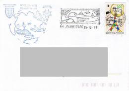 P.H Jeanne D'Arc - Campagne 1996 - 1997. Noel En Mer. - Naval Post