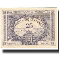 Billet, Monaco, 25 Centimes, 1920, 16-03 (20-03) 1920, KM:2c, SUP+ - Monaco