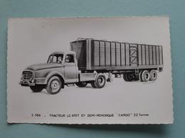 "WILLEME "" 5.386 - Tracteur LC 610T Et Semi-Remorque "" CARGO "" 22 Tonnes ( Willeme ) Anno 19?? ( Voir Photo Svp ) - Transporter & LKW"