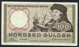 :Netherlands  -  100 Gulden 1953 'Erasmus' 2-2-1953 , Replacement . - [2] 1815-… : Regno Dei Paesi Bassi