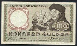 :Netherlands  -  100 Gulden 1953 'Erasmus' 2-2-1953 , Replacement . - [2] 1815-… : Kingdom Of The Netherlands