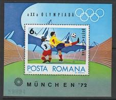 BLOC NEUF DE ROUMANIE - J.O. DE MUNICH 1972 : FOOTBALL N° Y&T 98 - Summer 1972: Munich