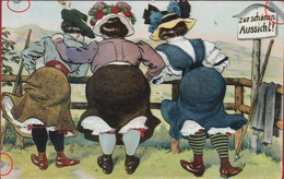 Zur Schonen Aussicht CPA Humour Humor Women Femmes - Humour