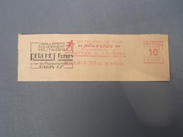 """Flamme Oblitération  Habillement Equipement Militaires PERCHET-FRERES PARIS Manteau De Pluie """" Pluviose """" 1930 - Grande-Bretagne"""
