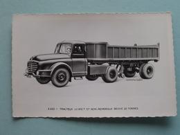 """WILLEME """" 5.322 - Tracteur LC 610 T Et Semi-Remorque Benne 20 Tonnes ( Willeme ) Anno 19?? ( Voir Photo Svp ) - Transporter & LKW"""