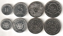 Burundi - Set 4 Coins 1 5 10 50 Francs 1980 - 2011 UNC Lemberg-Zp - Burundi