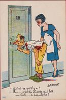 Illustrateur Illustrator A.G. Badert Humor Humour Jolie Carte Schlüsselloch Keyhole Sleutelgat (In Very Good Condition) - Andere Zeichner