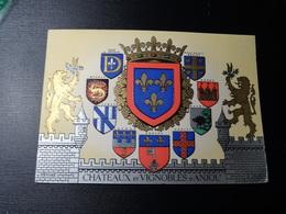 CPSM Blason Divers écussons Anjou   Wappen Coat Arms Sticker Adesivo - Obj. 'Remember Of'