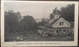 CPA, COTTAGE D.GENEVA POINT CAMP, WINNIPESAUKEE -Lake, NEW HAMPSHIRE, Etats Unis- USA, écrite, Hôtel - Etats-Unis