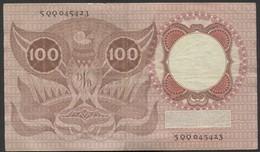 """:Netherlands  -  100 Gulden 2-2-1953 """"Erasmus"""" NO : 5 QQ 045423. - [2] 1815-… : Regno Dei Paesi Bassi"""